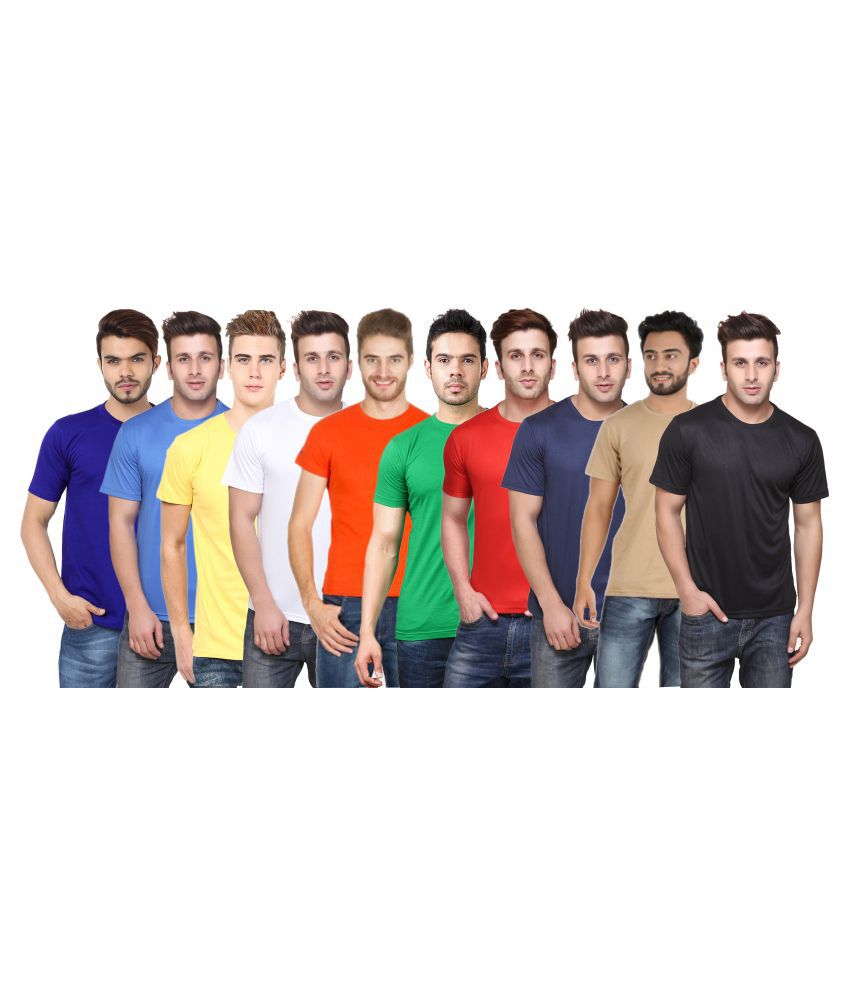 CONCEPTS Multi Round T-Shirt Pack of 10