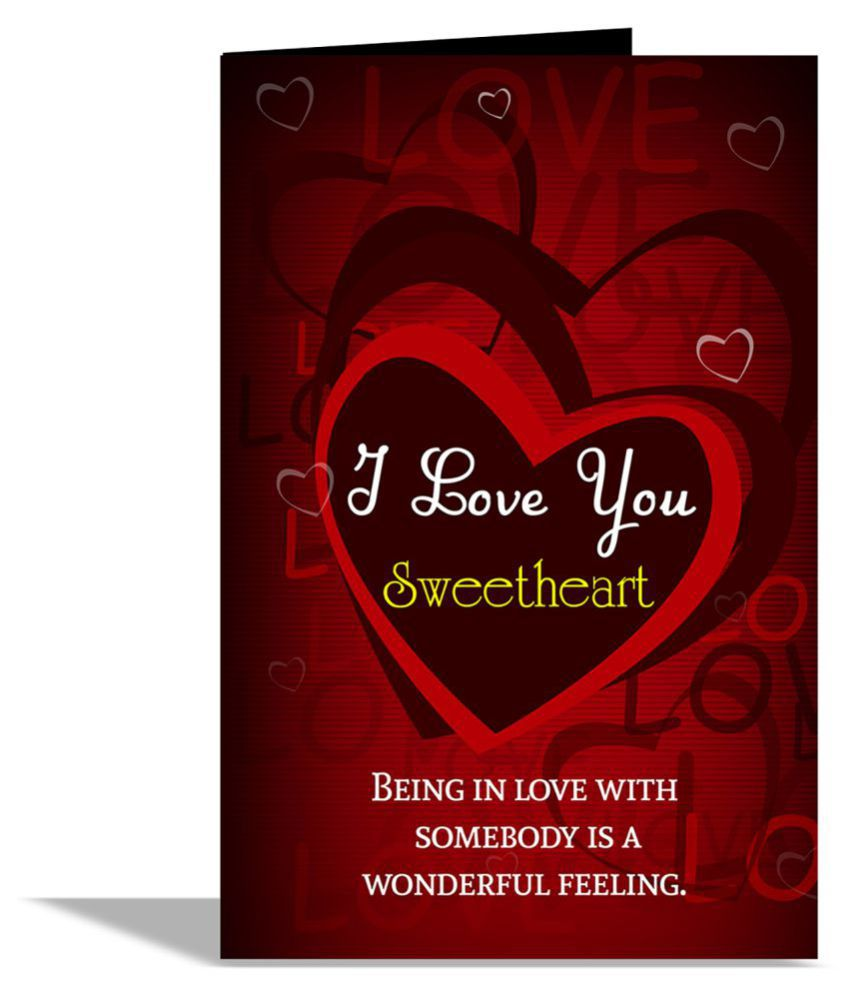 I Love You Sweetheart Greeting Card: Buy Online at Best Price in India - Snapdeal