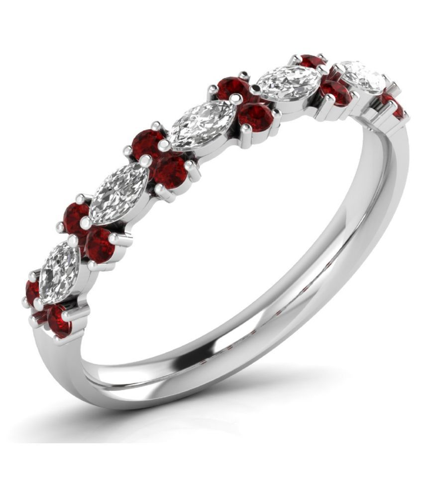 Icrjewels 92.5 Silver Cubic zirconia Ring