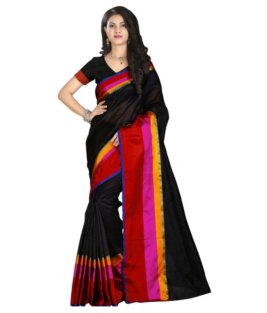 Sanjana collection Black Silk Saree