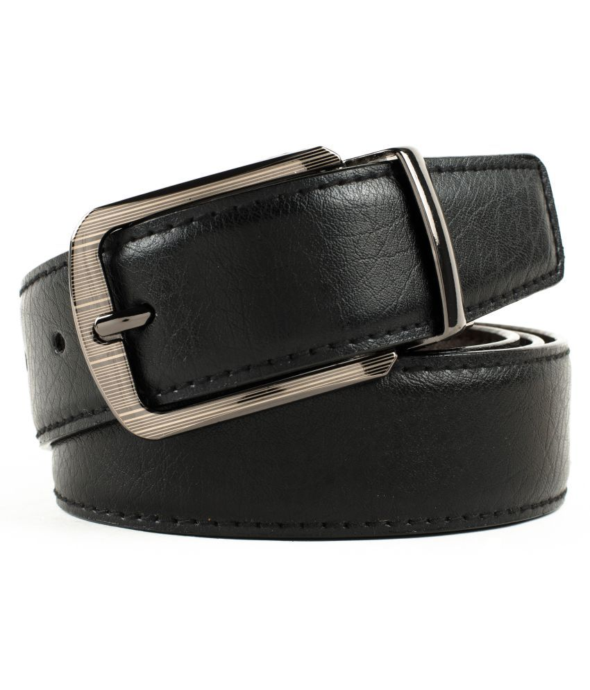 Winsome Deal Black Faux Leather Formal Belts