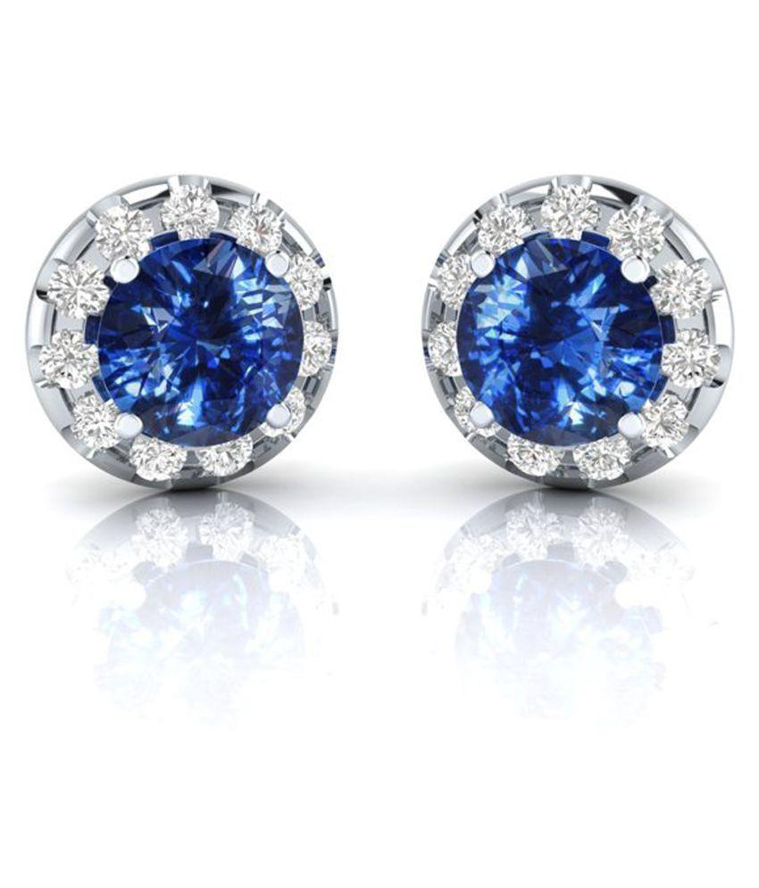 Kataria Jewellers 92.5 BIS Hallmarked Silver Zircon Studs