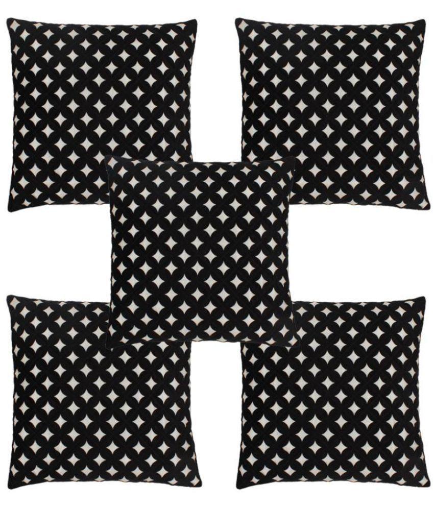 Freely Set of 5 Velvet Cushion Covers 40X40 cm (16X16)