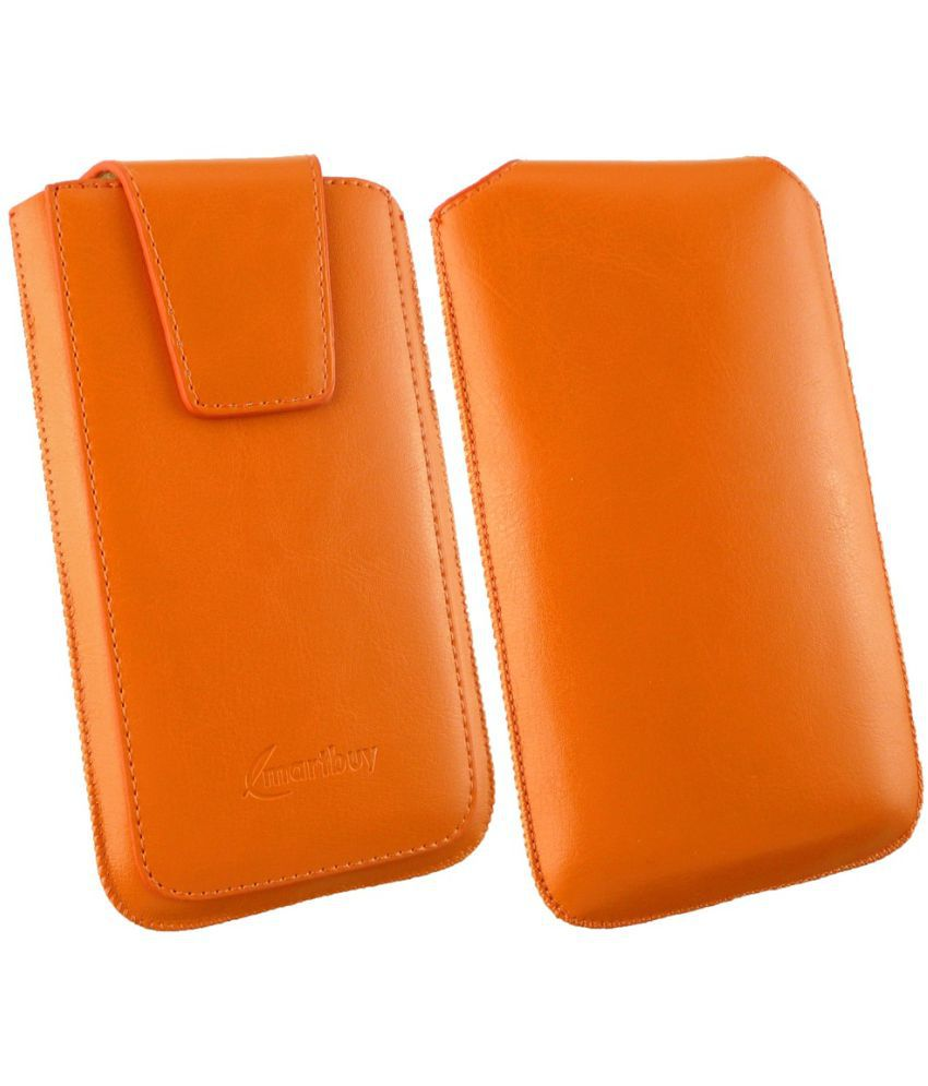 Asus Zenfone 3s Max ZC521TL Flip Cover by Emartbuy   Orange