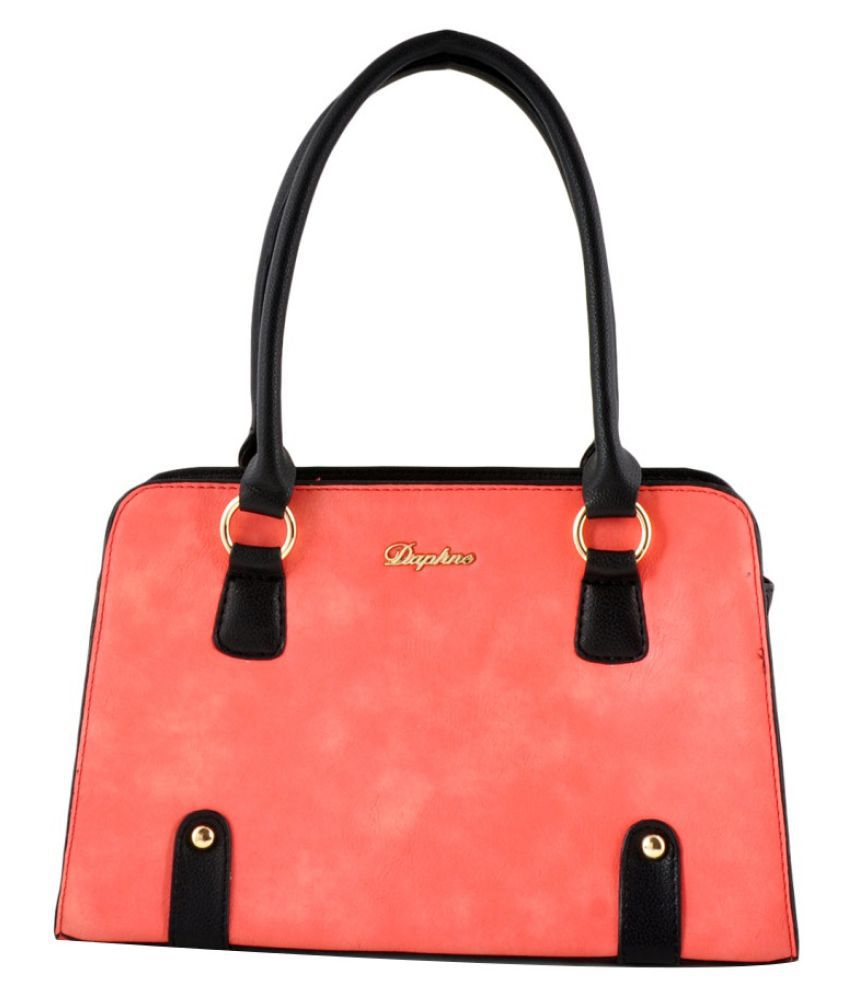 Daphne Pink Faux Leather Handheld