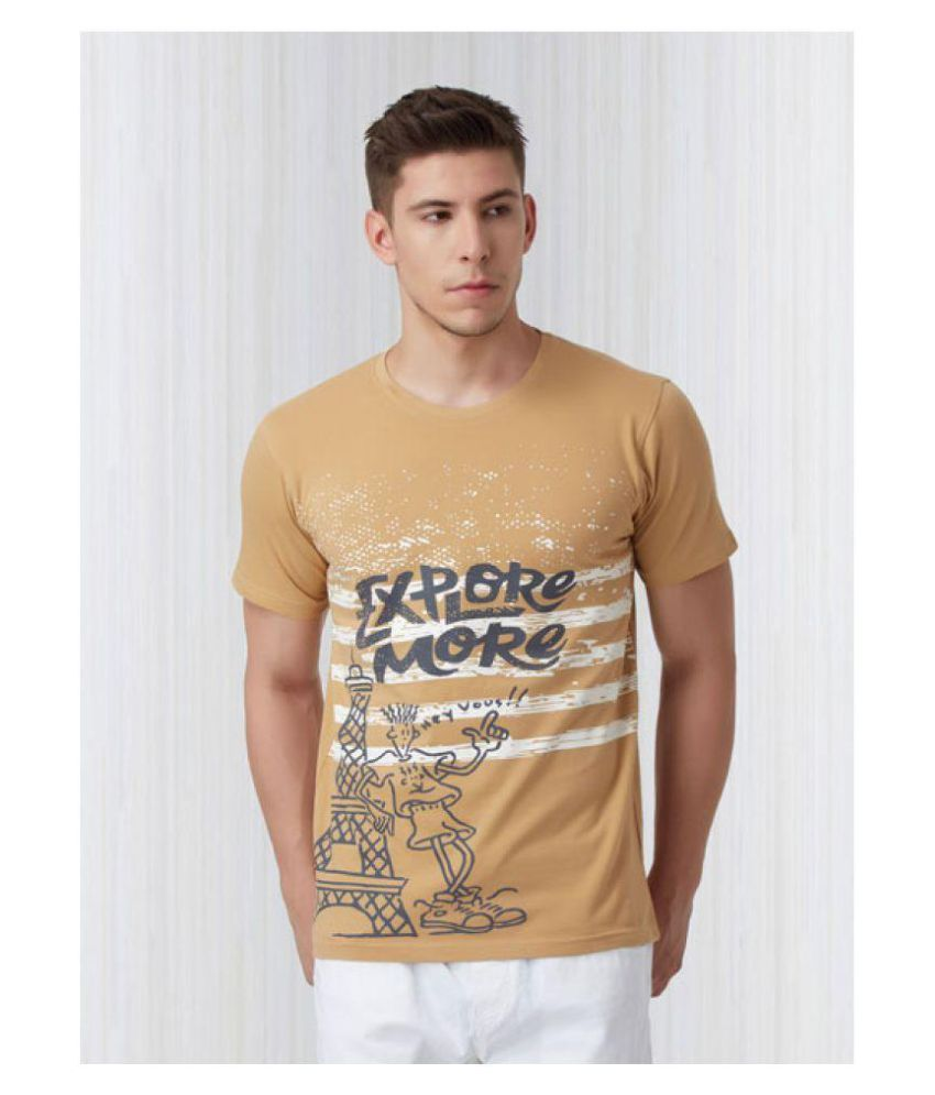 FIDO DIDO Gold Round T-Shirt Pack of 1