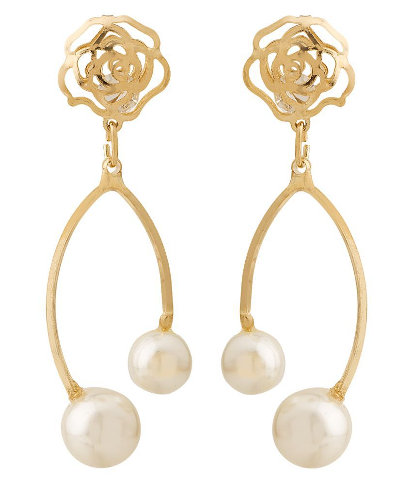 2010KHARIDO Contemporary Gold Colored Alloy Hoop Dangle Earring for Women
