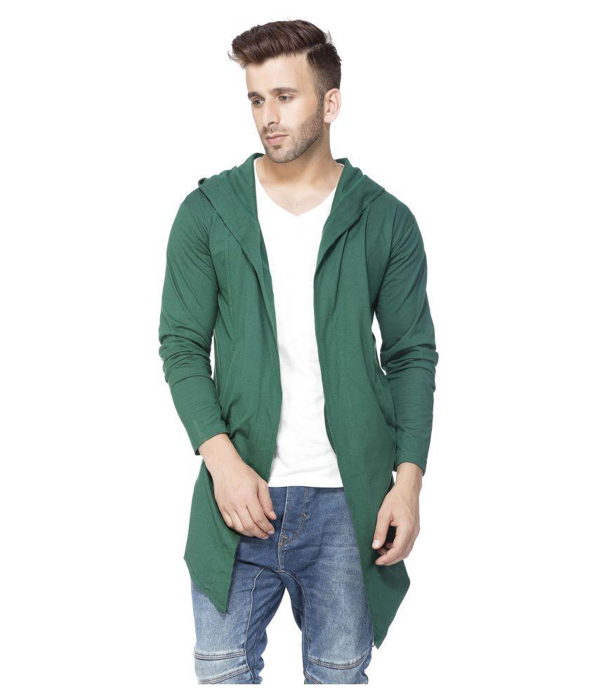 Tinted Men's Cotton Sinker Hooded Cardigan - Buy Tinted Men's ...