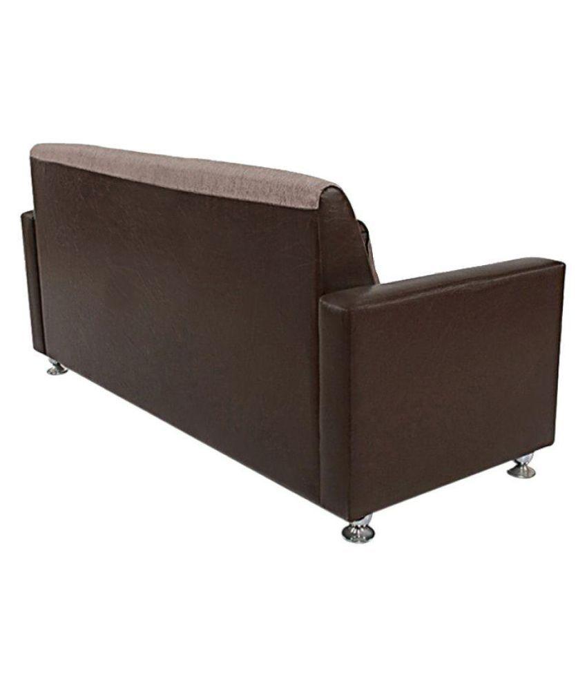 Furniture World Comfy 3 1 Sofa Set In Brown Pu Fabric