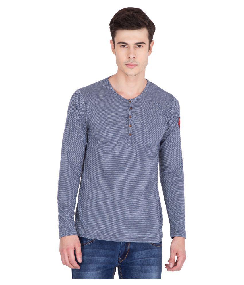 PAUSE Blue Henley T-Shirt