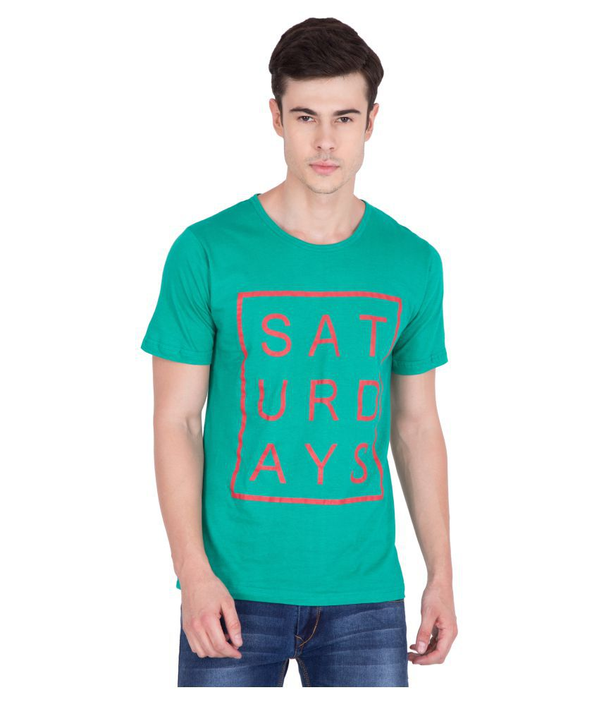 PAUSE Turquoise Round T-Shirt