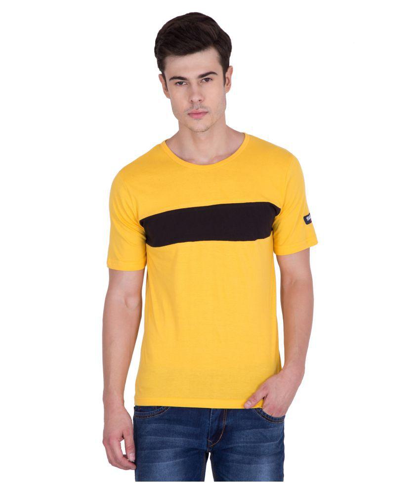 PAUSE Yellow Round T-Shirt