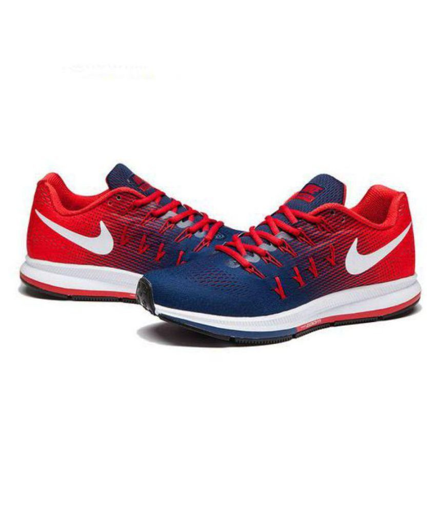 ... Nike 1 Pegasus 33 Navy Red Running Shoes