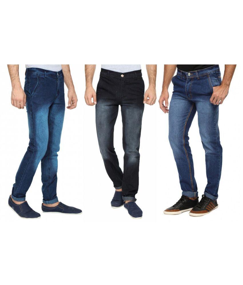 Wajbee Multi Regular Fit Jeans