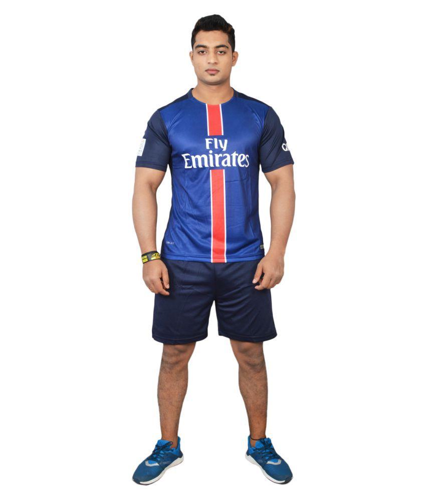 Football Fan Blue Polyester Jersey
