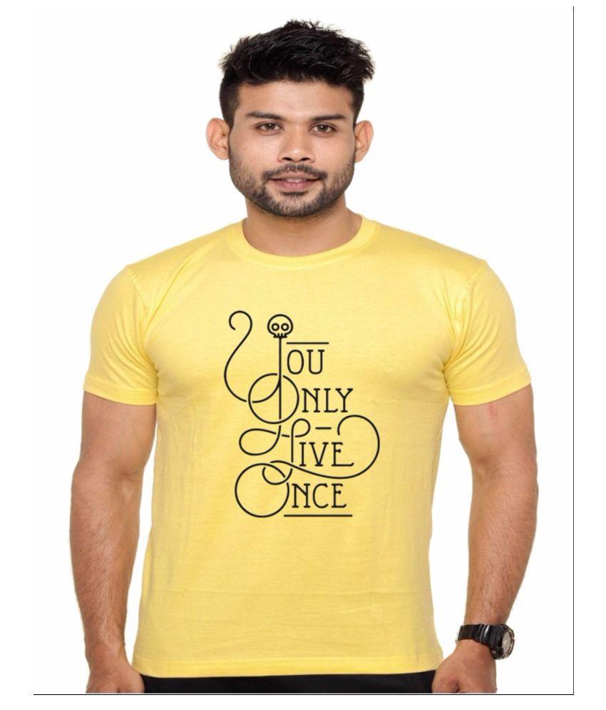 Ejebo Yellow Round T-Shirt