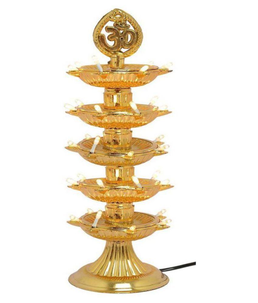 Lamp Buy: Buy Cromoxome Re-Buy 5 Layer-Electric Gold Diya Deepak