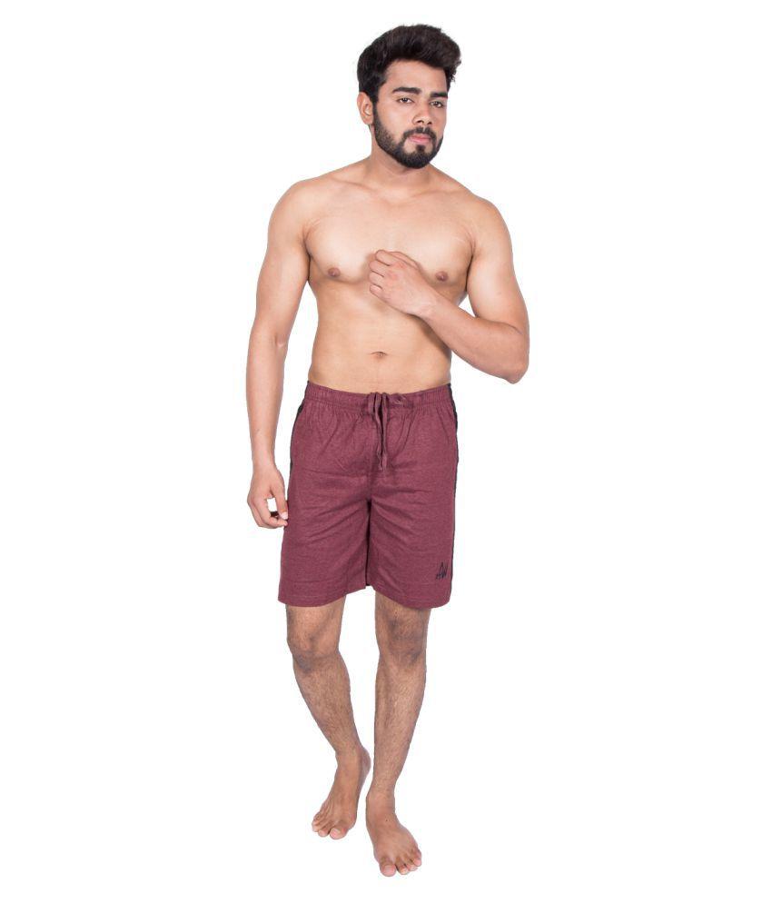 27Ashwood Maroon Shorts