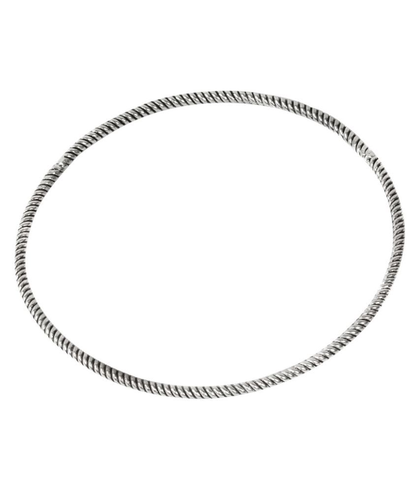 SOIL Traditional Coiled Anklet in German Silver
