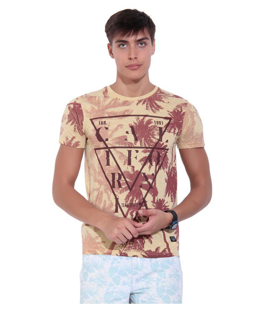 TAB91 Beige Round T-Shirt