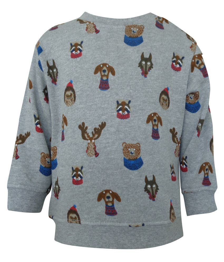 Teddy's Choice 100% Cotton Fleece Boy's Sweet Shirt