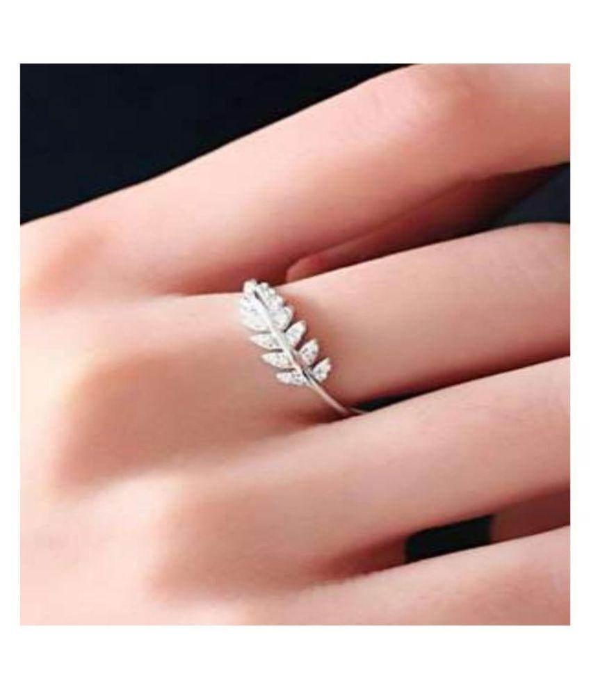 Style Queen Swarovski Elements Leaves Design Adjustable Ring For ...