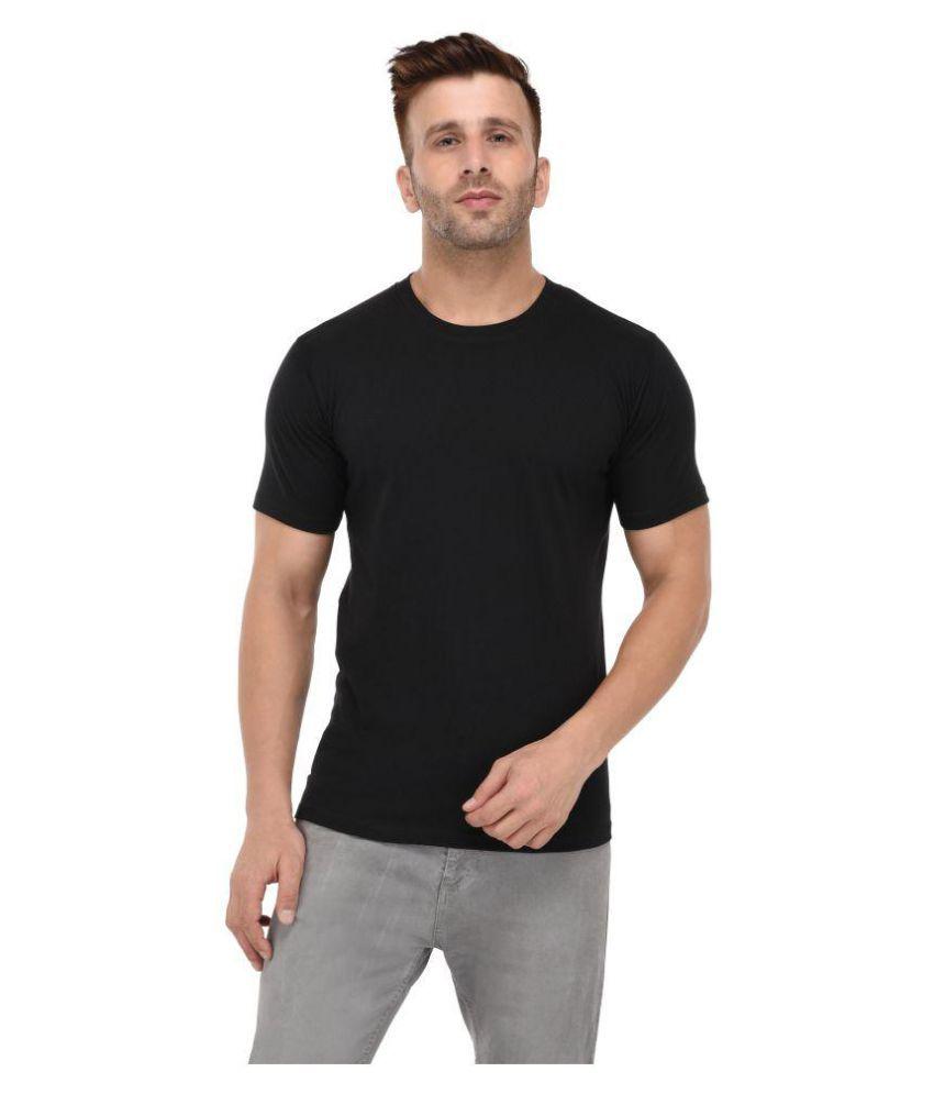 BKS COLLECTION Black Round T-Shirt