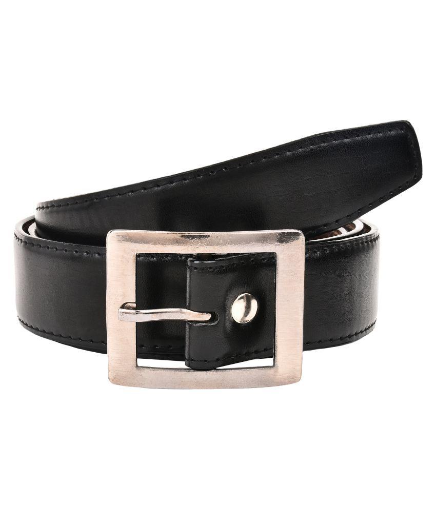 Creature Black Faux Leather Formal Belts