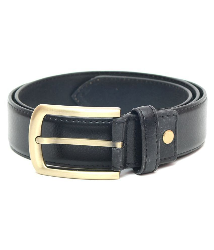Laurent Benen Black Leather Formal Belts