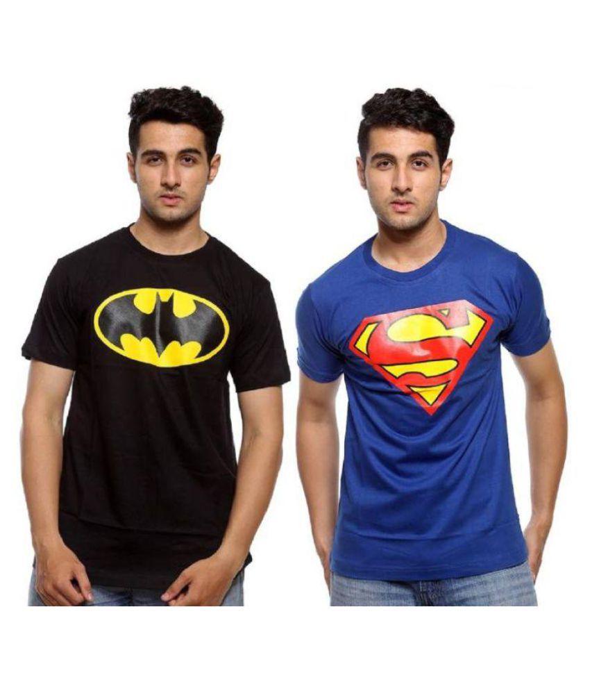 Suvidha Export Blue Round T-Shirt Pack of 2