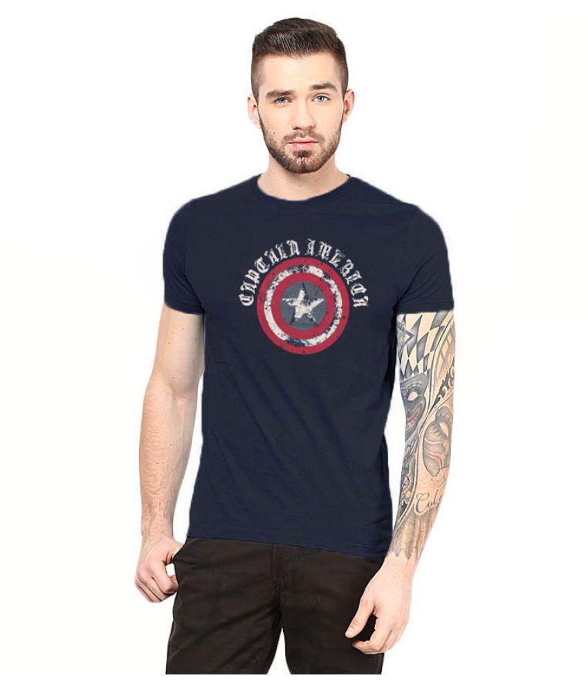 Gallop Navy Round T-Shirt