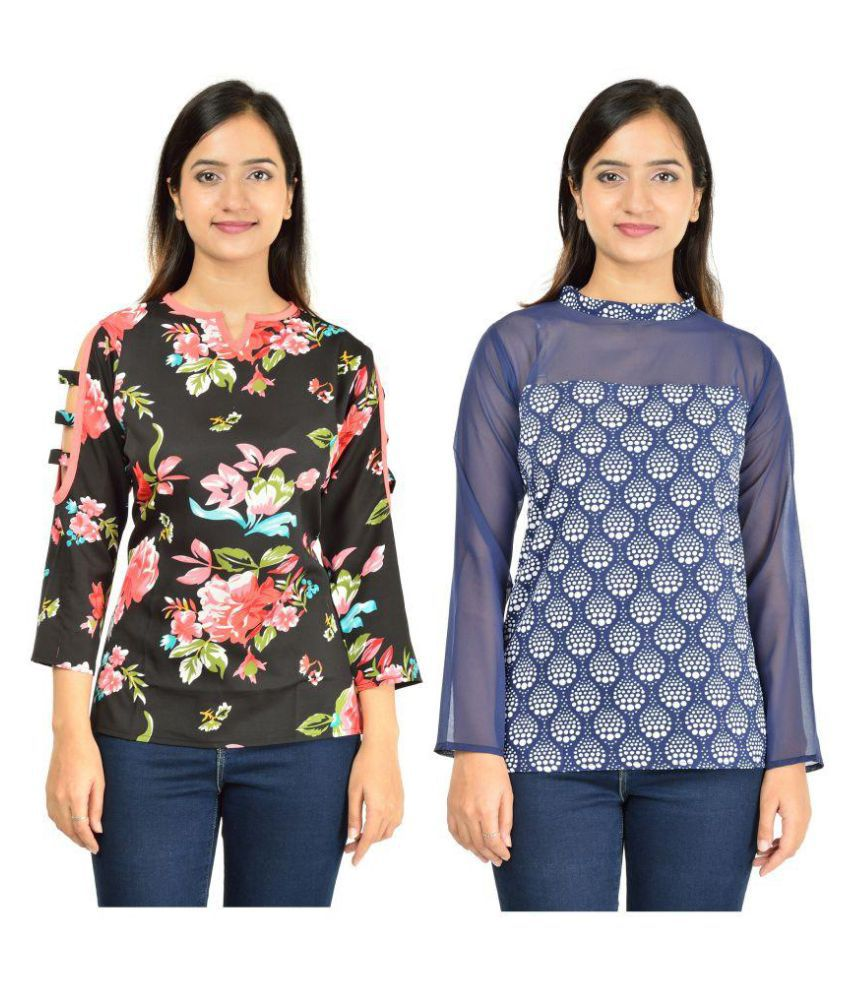 fc13ee4ab Timbre Crepe Regular Tops - Buy Timbre Crepe Regular Tops Online at Best  Prices in India on Snapdeal