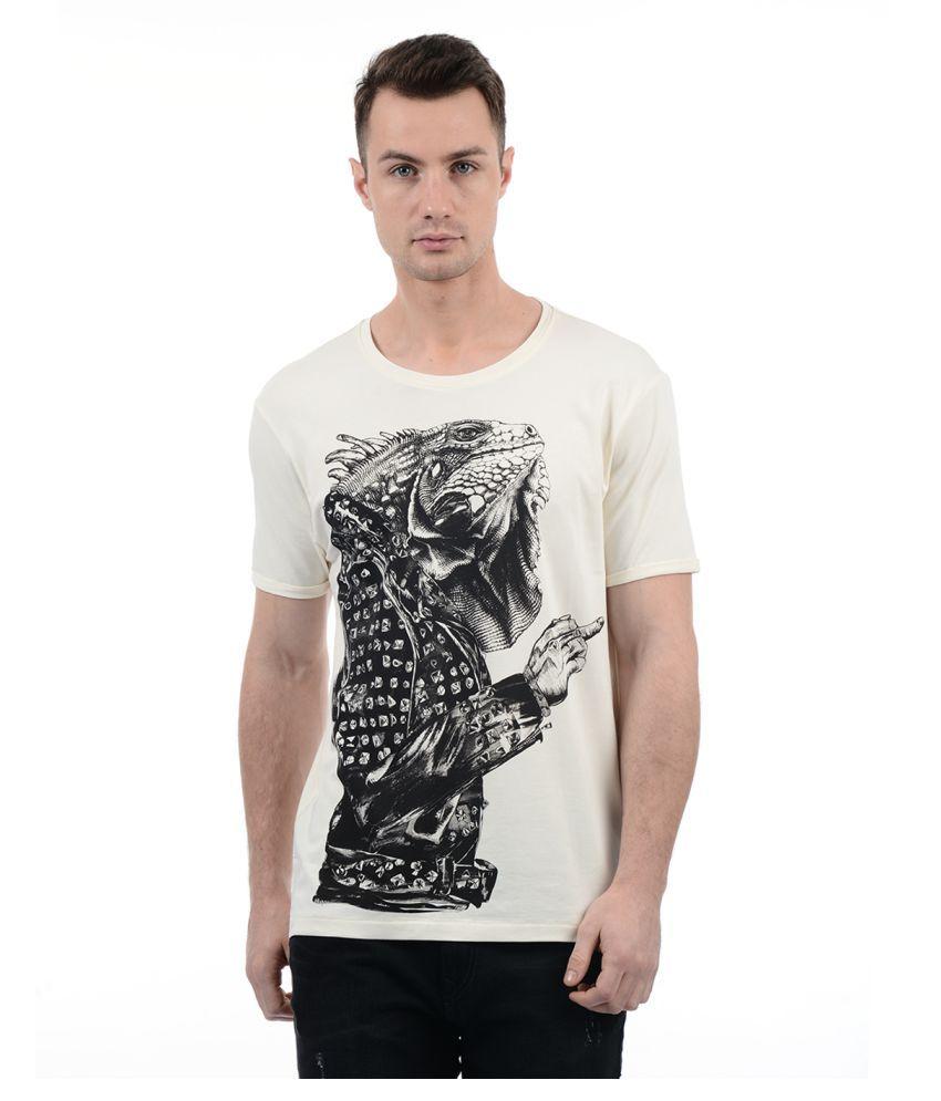 Ed Hardy White Round T-Shirt