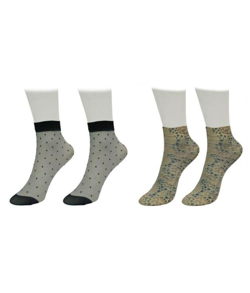 Gold Dust Unique Designer Patterns Socks (2 Pair)