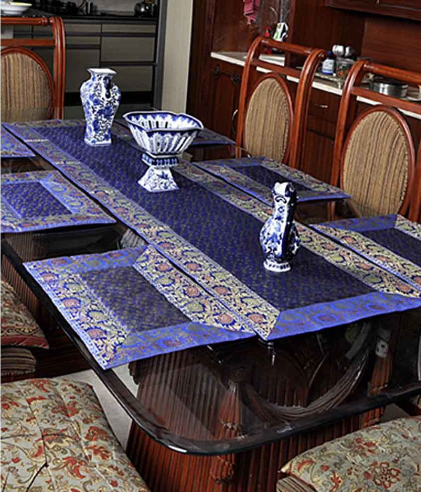 Lal Haveli Dining Table Runners Linen Set With Place Mats
