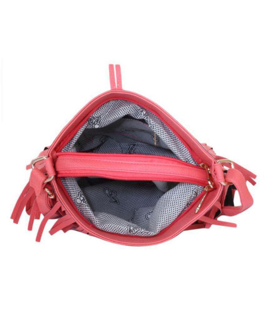 af00d93efc AJ STYLE Pink P.U. Sling Bag - Buy AJ STYLE Pink P.U. Sling Bag ...