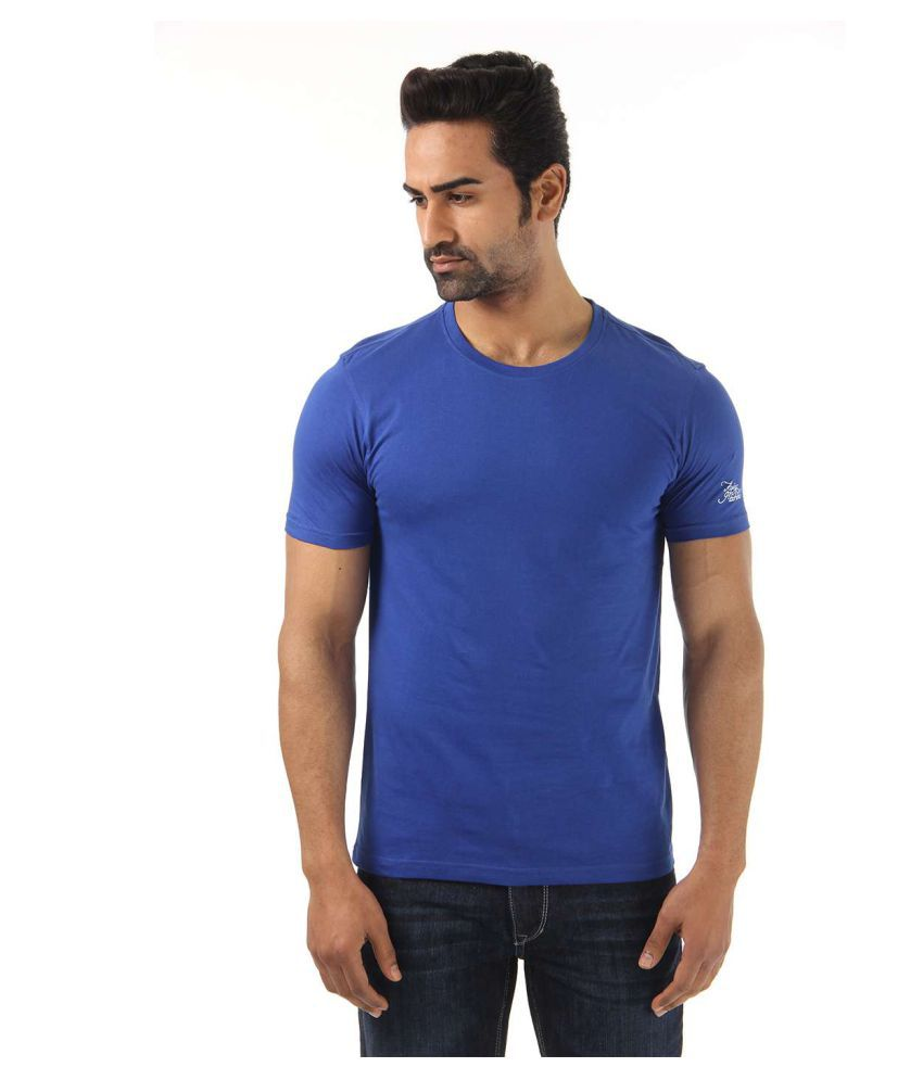 Flying Machine Blue Round T-Shirt