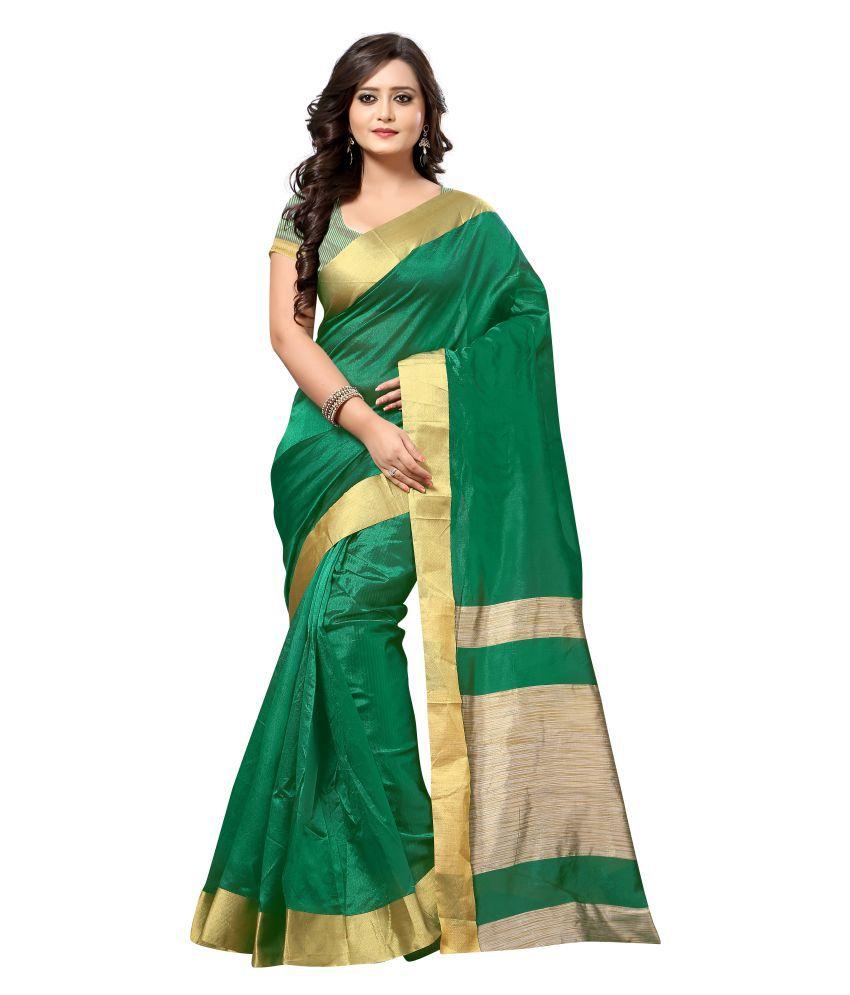 Mastani Beige Cotton Silk Saree