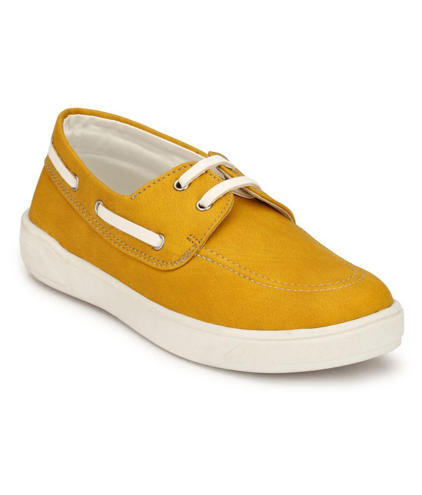 Hirels Yellow Kids Derby Sneakers