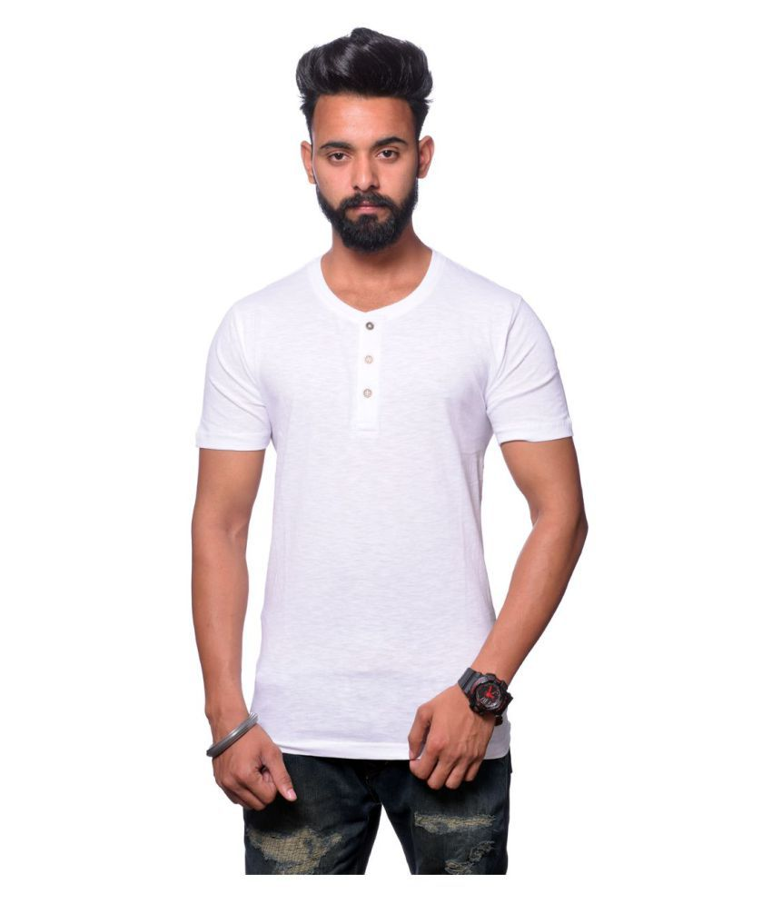 Illusion White Round T-Shirt