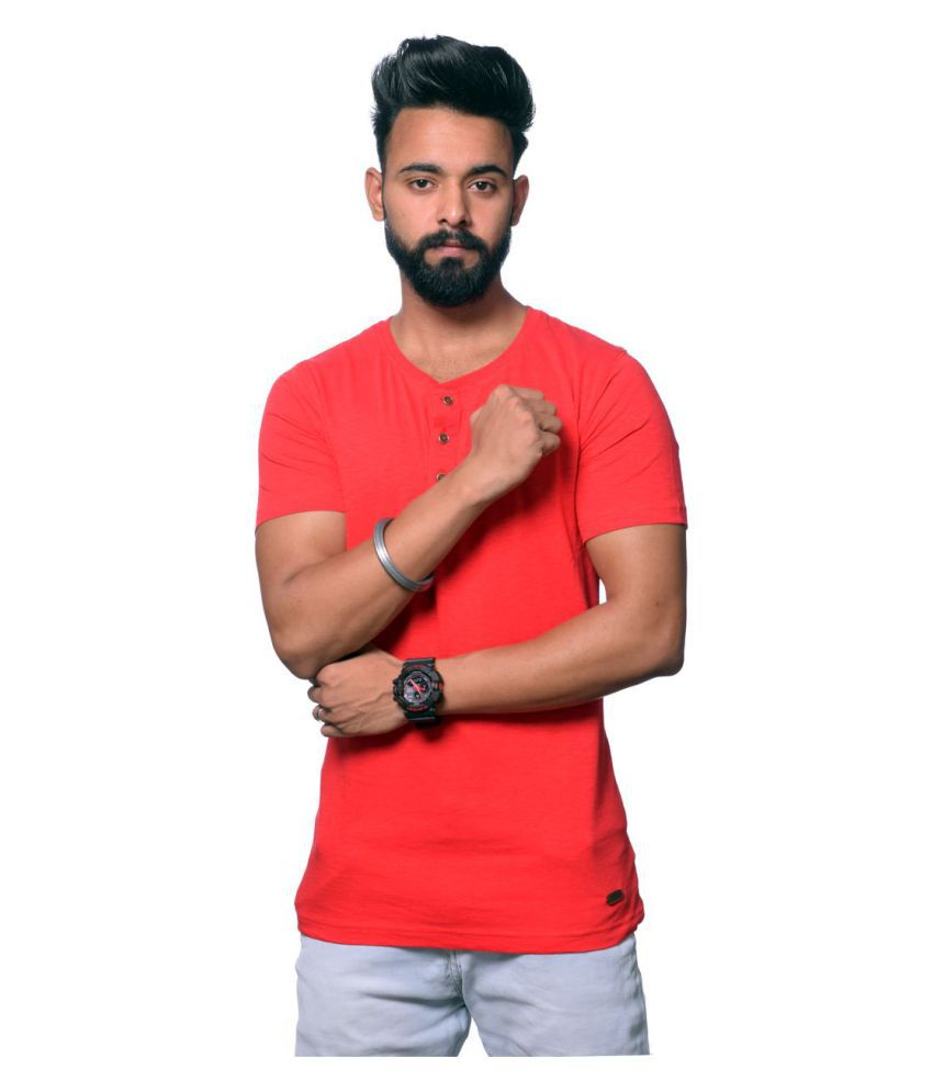 Illusion Red Round T-Shirt