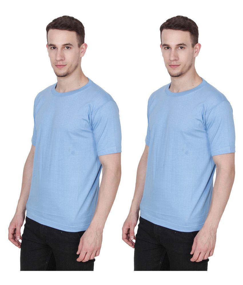Ridge Vogue Blue Round T-Shirt Pack of 2