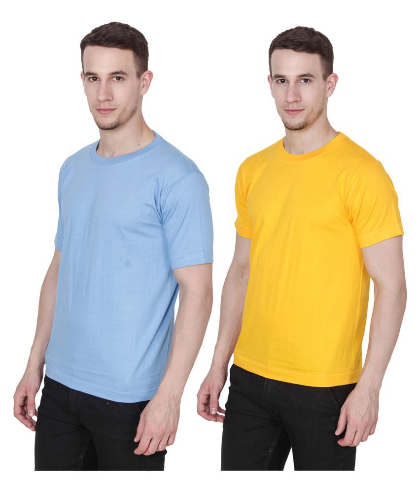 Ridge Vogue Blue Round T-Shirt Pack of 2