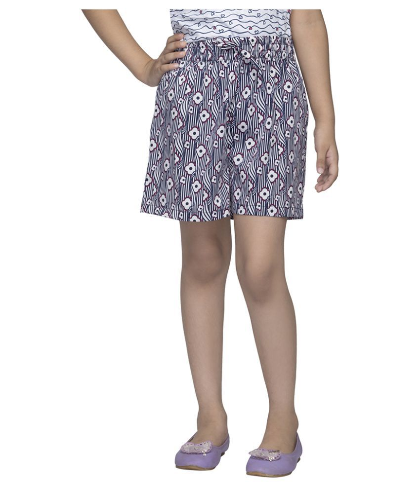 Girl'S Multicolor Printed Shorts