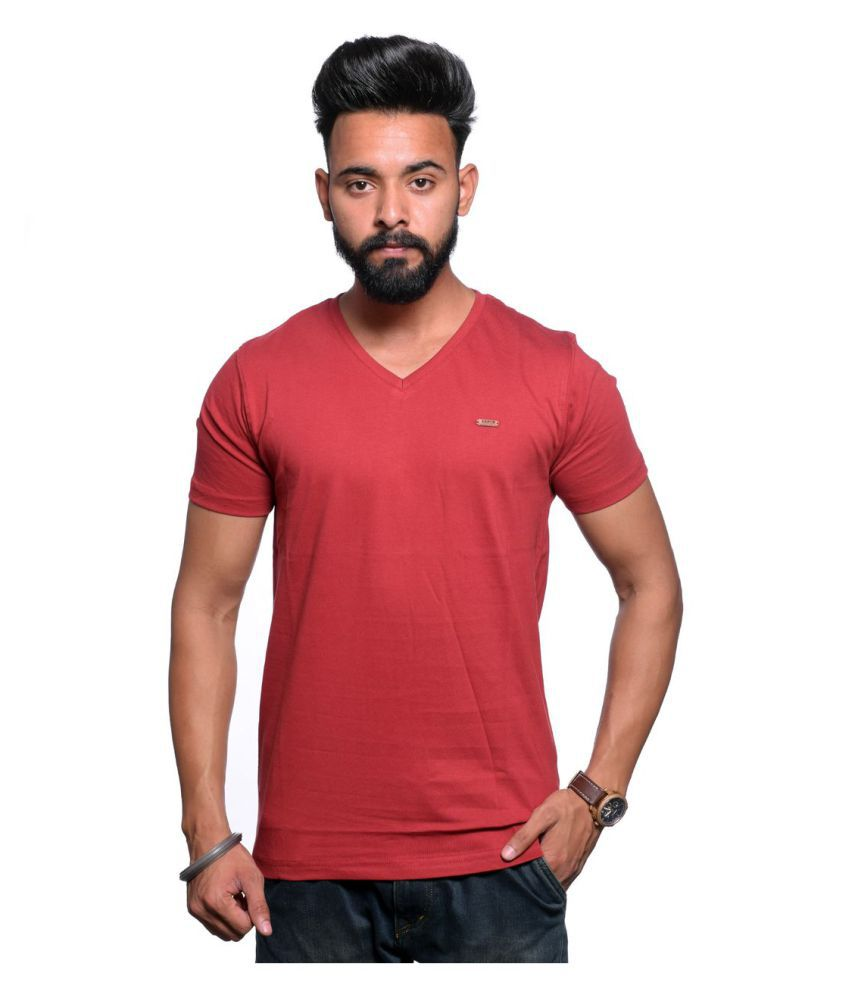 Illusion Red V-neck T-Shirt