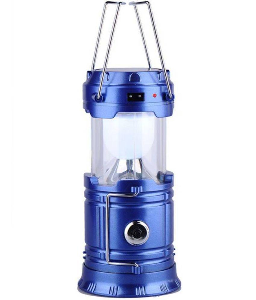 Bhavya 10W Solar Lamp and Power Support Blue Lantern Solar Lights Blue - Pack of 1
