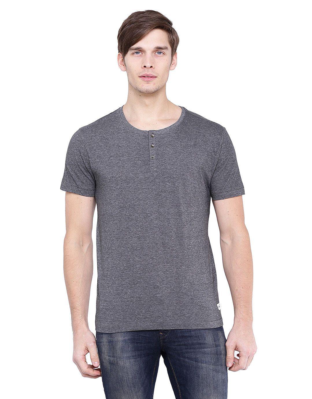Flying Machine Grey Round T-Shirt