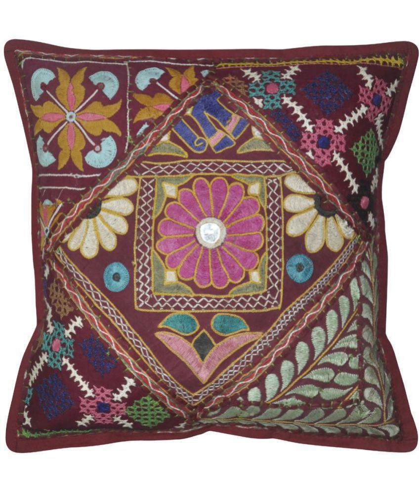 Lal Haveli Single Cotton Cushion Covers 40X40 cm (16X16)