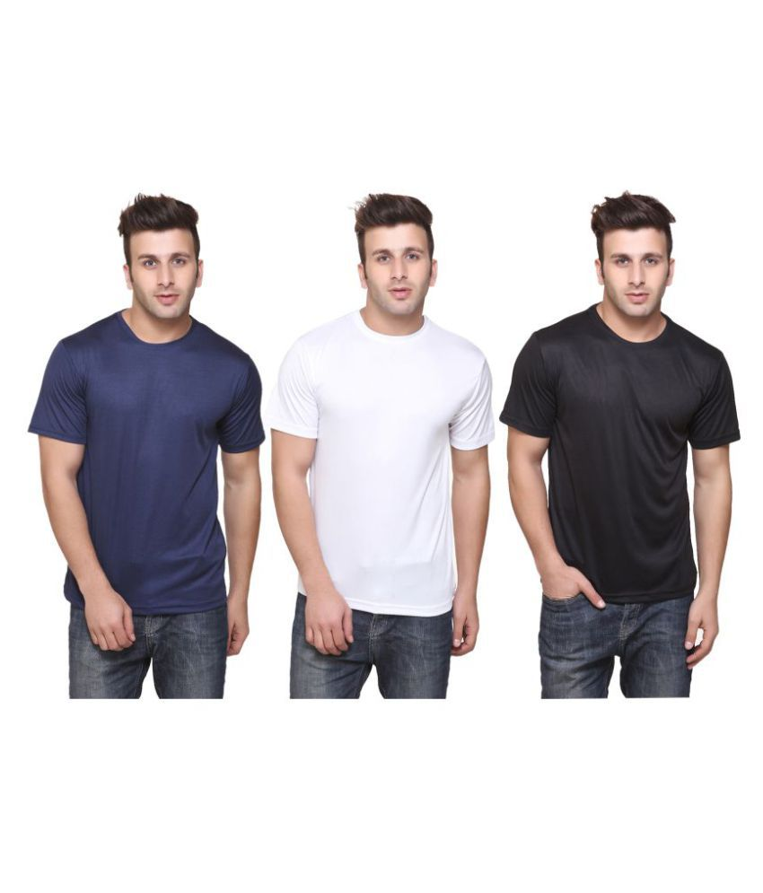 FUNKY GUYS Multi Polyester T-Shirt Pack of 3