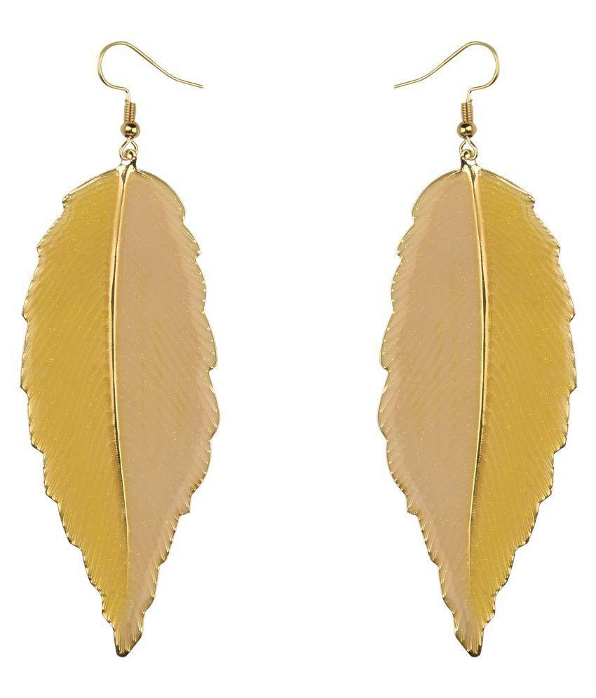 Diva Walk yellow alloy  earring